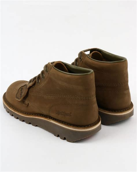 Kickers Classic Casual kickers kick hi boots khaki shoe chunky mens