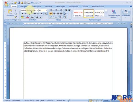 Word Web Layout Seitenlayout | wordwelt word 2007 seitenlayout