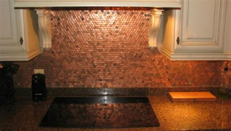 make a penny backsplash for an expensive look creative ideas 9 craft ideas for turning your pennies into art tiphero