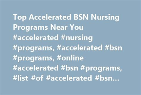Accelerated Nursing Degree With An Mba Already best 25 bsn programs ideas on rn to bsn rn