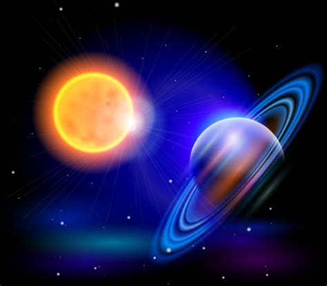 sun of saturn sun with saturn background vector vector background free