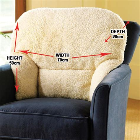 armchair supporter fleece back rest lumbar support aid armchair cushion oap