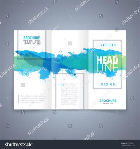 Vector Modern Flyer Poster Trifold Brochure Stock Vector 459949291 Shutterstock Tri Fold Poster Template