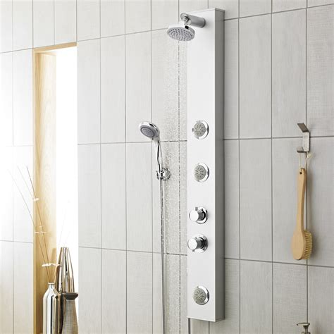 Shower Panel Reviews by Premier Thermostatic Shower Panel With Fixed Shower 3 Jets Shower Kit As304 At