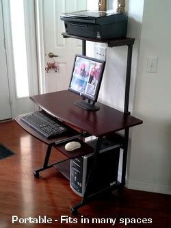 computer desk with tower shelf s40 40 quot computer desk with tower printer shelf