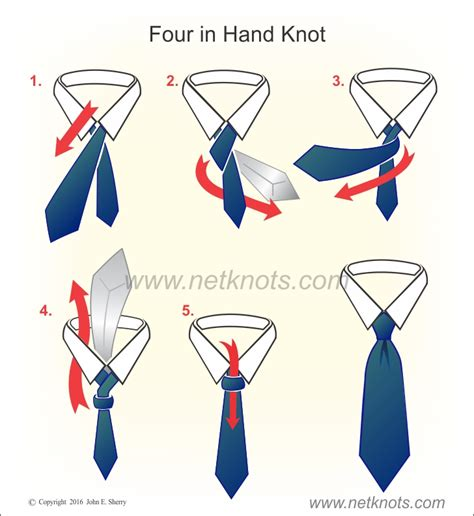 How To Make A Number 4 Knot - four in knot animated illustrated and described