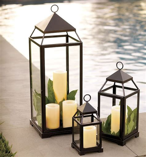 Malta Lantern Bronze Finish Traditional Candleholders Outdoor Candle Lights