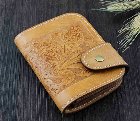 Handmade Western Leather Wallets - handmade western s leather wallet biker rider rodeo