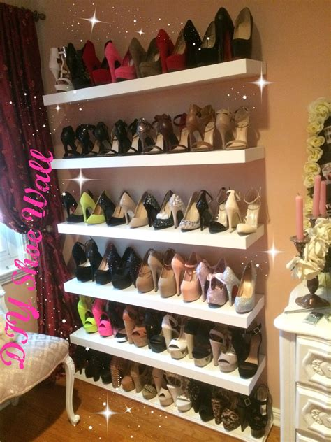 wall shoe rack diy diy shoe wall loversiq