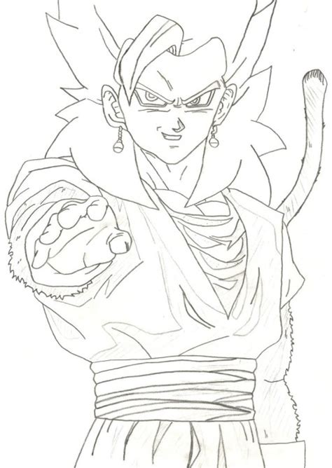 dragon ball z coloring pages vegito vegetto en gogeta coloring pages