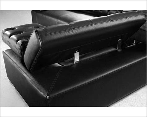 Black Leather Contemporary Sofa Contemporary Black Leather Sectional Sofa Set 44l0597