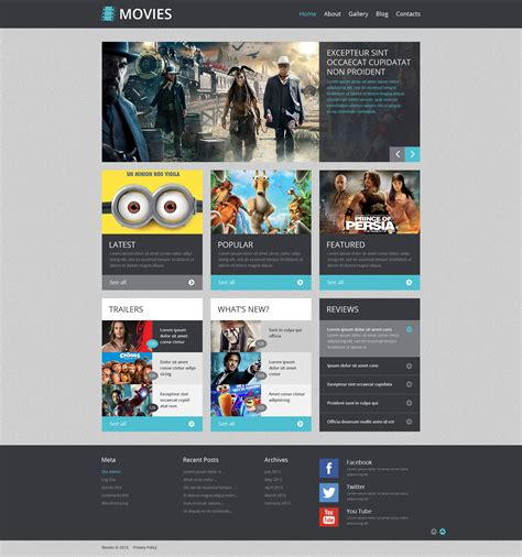 Movie Responsive Wordpress Theme 48833 Filmmaker Website Template