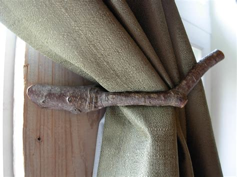 rustic curtain tie backs pair of handcrafted rustic curtain tie backs