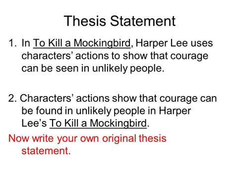 courage thesis theme statements vs topics ppt