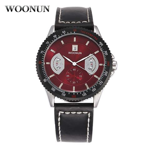 woonun top brand luxury mens watches fashion clock
