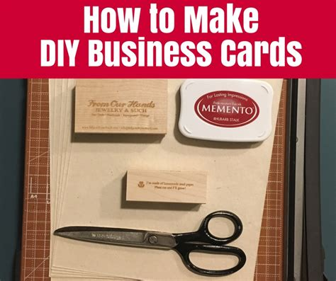 business card how to make how to make diy business cards the crafty mummy