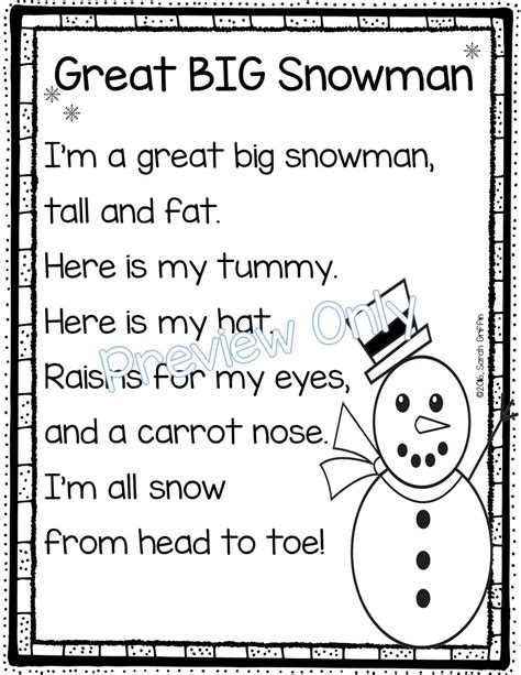 christmas and new year poems for kindergarten daughters and kindergarten 5 winter poems for