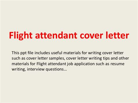 cover letter for flight attendant position flight attendant cover letter