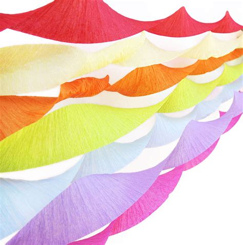 How To Make Tissue Paper Streamers - set of three crepe paper streamers by blossom