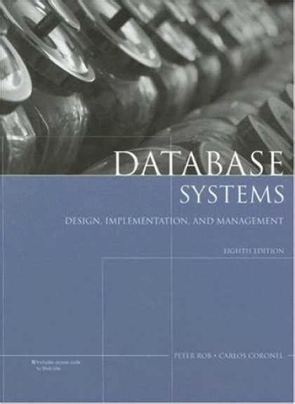 database systems design implementation management books design book covers 50 99