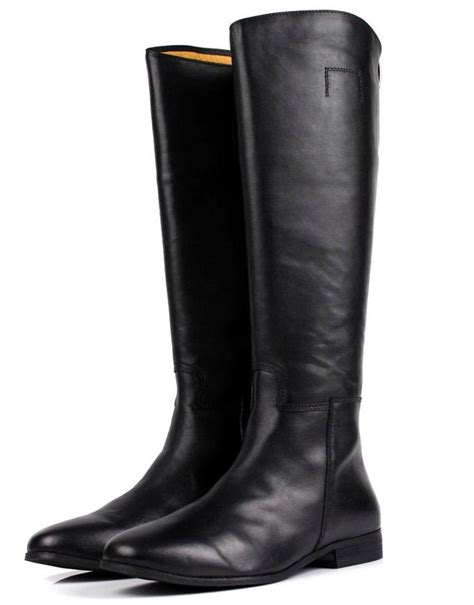mens high boots large size mens knee high boots fashion black genuine