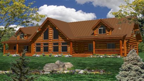 Large Cabin Plans One Story Log Home Plans Large One Story Log Homes Log