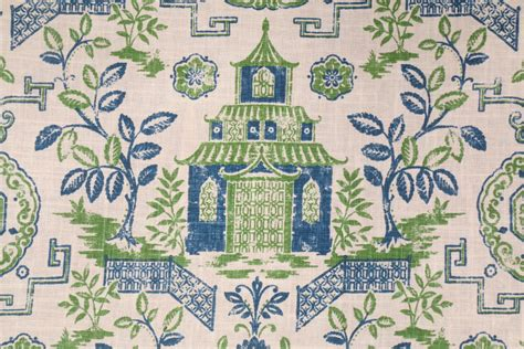 toile drapery fabric richloom teahouse toile printed linen blend drapery fabric