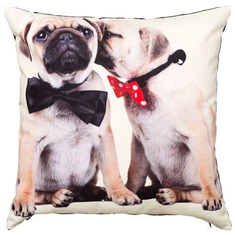 pug cushion uk printed pugs cushion soft furnishings