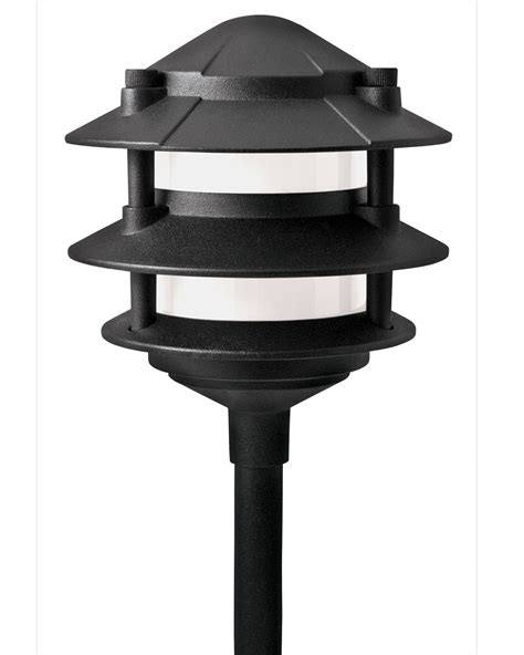 low voltage outdoor path lighting fixtures paradise low voltage black aluminum 11 watt 3 tier outdoor