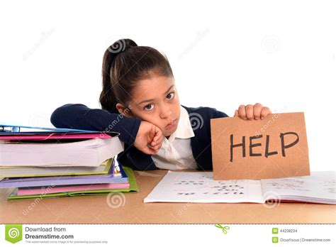 Student Help Desk College by Sweet Bored Stress Asking For Help In