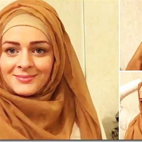 tutorial berhijab lucu cara memakai jilbab ala wanita timur tengah lucu unik aneh