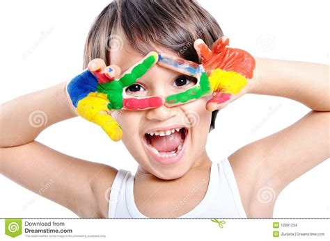 Messy Hands Childhood Stock Images Image 12091234 Children Painting Images