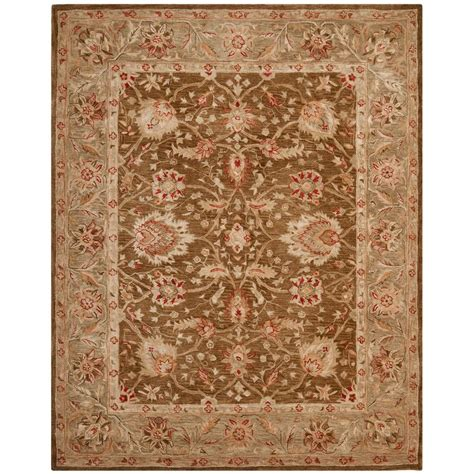 Safavieh Anatolia Brown Green 9 Ft X 12 Ft Area Rug Brown And Green Area Rugs