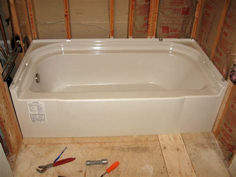 bathtub installation installing sterling accord tub shower kits terry love