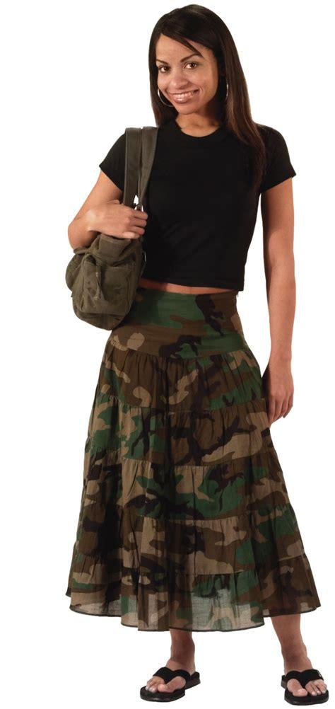 womens woodland camo gauze skirt