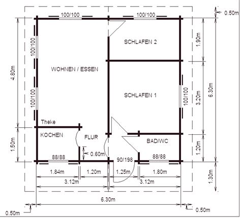 Wohnung 40 Qm by Blockhaus 40 Qm Karst Holzhaus