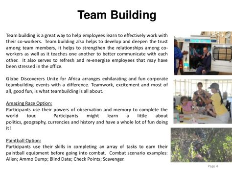 Corporate Events Presentation Team Building Email Template