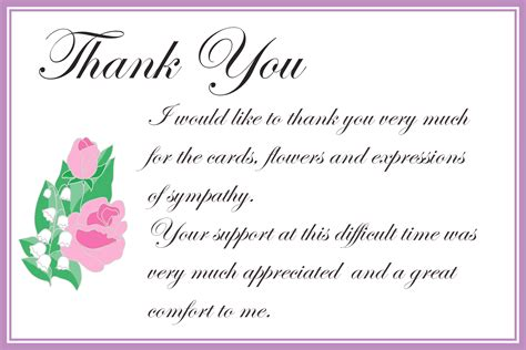 Printable Thank You Cards Free Printable Greeting Cards Free Sympathy Thank You Card Templates
