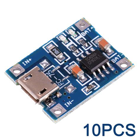Tp 4056 5v Micro Usb 1a Lithium Battery Charging Protection Module 1 10pcs tp4056 micro usb 5v 1a lithium battery charging module for arduino te585 ebay