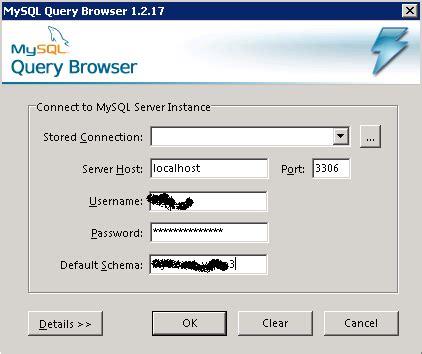 membuat database dengan mysql query browser about databases mysql query browser
