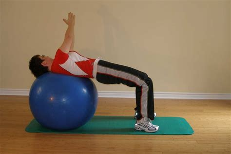 reverse bridge twist   exercise ball