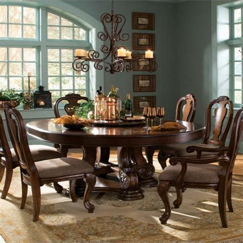 Classic Dining Room Tables perfect 8 person round dining table homesfeed