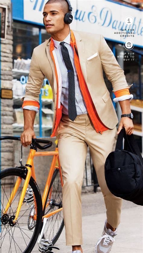 changing your fashion style to look great as a young gray haired woman men s orange bomber jacket tan blazer white and blue