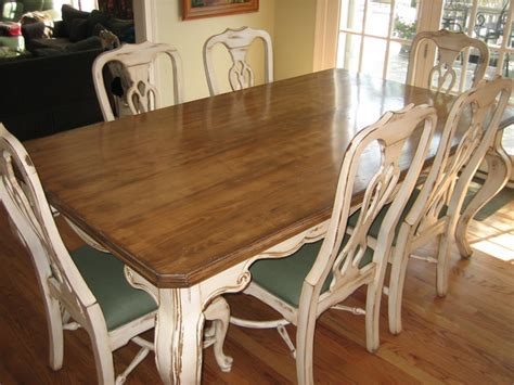 handpainted distressed and stained table and chairs