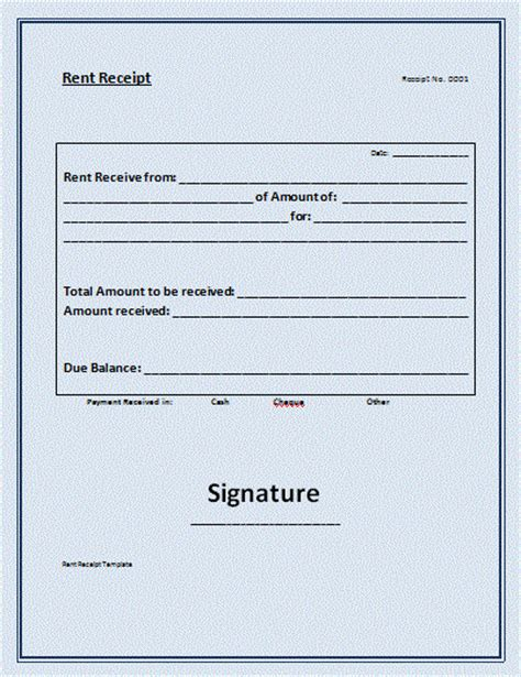 rent receipt template  commercewordpress