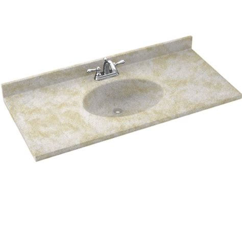 swanstone contour 25 in solid surface vanity top with