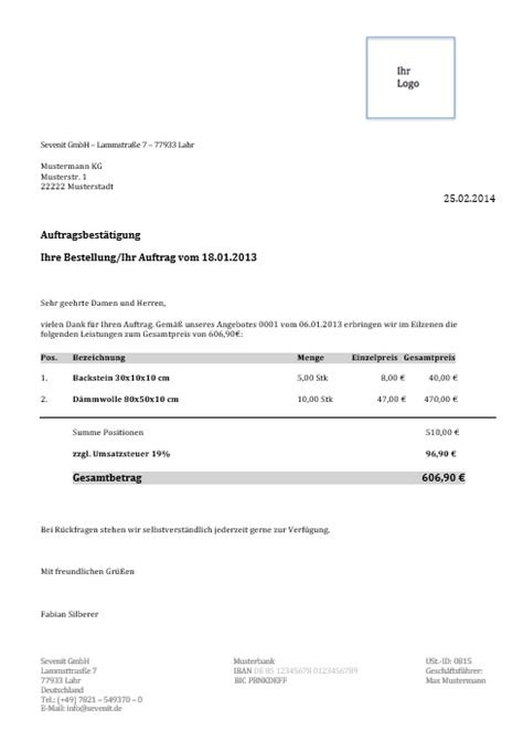 Angebot Annehmen Musterbrief Kostenlose Vorlagen Und Muster Sevdesk