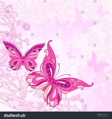 wallpaper butterfly pink vector pink and white butterfly background