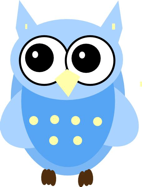 owl clipart free blue baby owl clip at clker vector clip