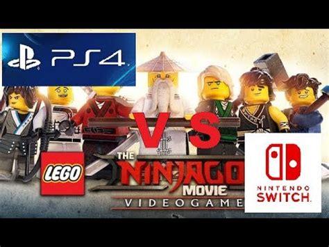 Lego Ninjago The Nintendo Swicht comparison lego ninjago sony ps4 vs nintendo switch